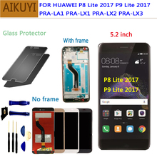 цены на For Huawei P8 Lite 2017 LCD Display Touch Screen Digitizer Huawei P9 Lite 2017 LCD With Frame P8 lite 2017 PRA LA1 LX1 LX2 LX3  в интернет-магазинах