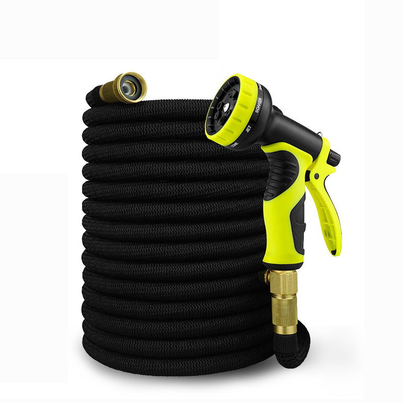 25-100FT Garden Hose Expandable Magic Flexible Water Pipe Lightweight Double Latex Hose Garden Setting With Spray Gun Watering
