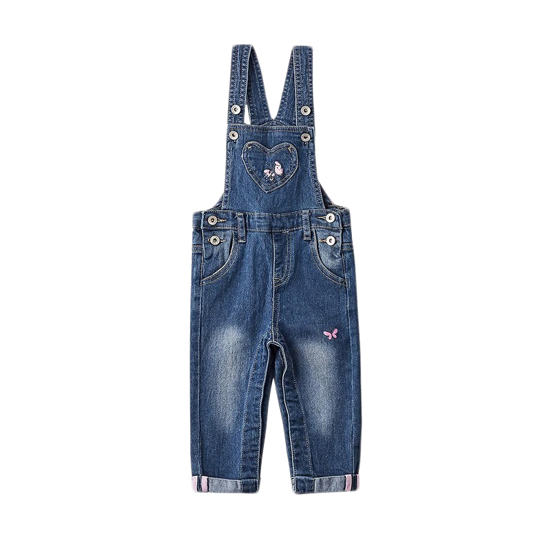 Overalls MODIS M182D00211 for baby girls kids clothes children clothes TmallFS charming knitted crochet fireman overalls photography clothes set for baby
