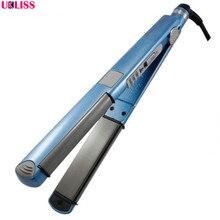 Wholesale prices High Quality Fast hair straightener Plates Professional nano titanium modelador de cachos flexi rods straightener machine