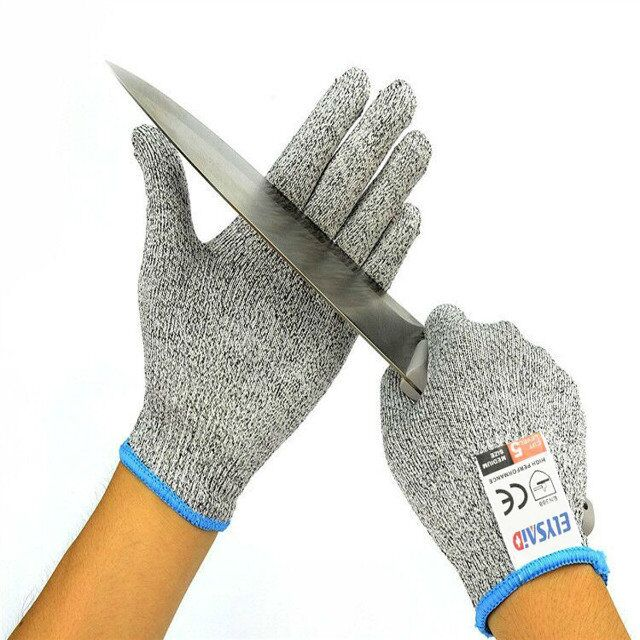 ELYSAID 2Pairs/Lot Level 5 Food Grade Cut Resistant Working Gloves With Stainless Steel Wire HPPE Device Protection Of Hand