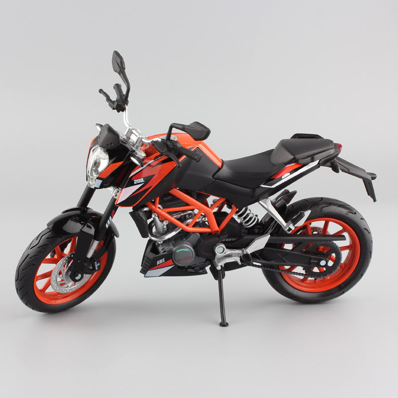 1:12 scale Automaxx 2014 miniature KTM 200 DUKE 200cc SPORT SUPERB motorcycle diecast Model sport bike race car toys for boys 1 12 scale mini kawasaki ninja zx 6r sport bike metal motorcycle diecast sport road racing model collection car toy for children
