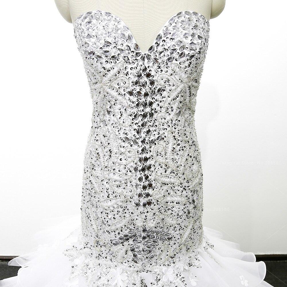 Sparkly Kristall Meerjungfrau Strass Hochzeitskleid Perlen Perlen ...