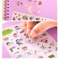 Корея канцелярские медведь счастливая жизнь дневник декоративные наклейки прозрачный ПЭТ наклейки ребенок ПОДЕЛКИ игрушки 6 листов/комплект
