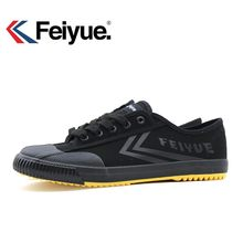 Feiyue shoes 1920' new Black Kungfu Shoes Vintage New Improved, Martial Arts Shoes, Men Women Sneakers Wushu Shoes(China)