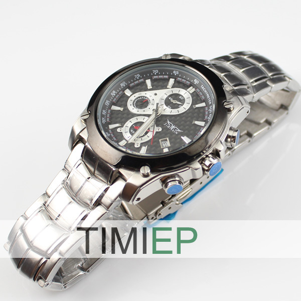 ФОТО NEW 3 Dial 100M Men's Diving Watches Waterproof 300FT Diver Watch Stainless Steel freeship