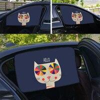 3 Pieces Set Side Window Sunshades Car Cartoon Curtain Cover Sun Blocking Auto Curtain Side Blocking