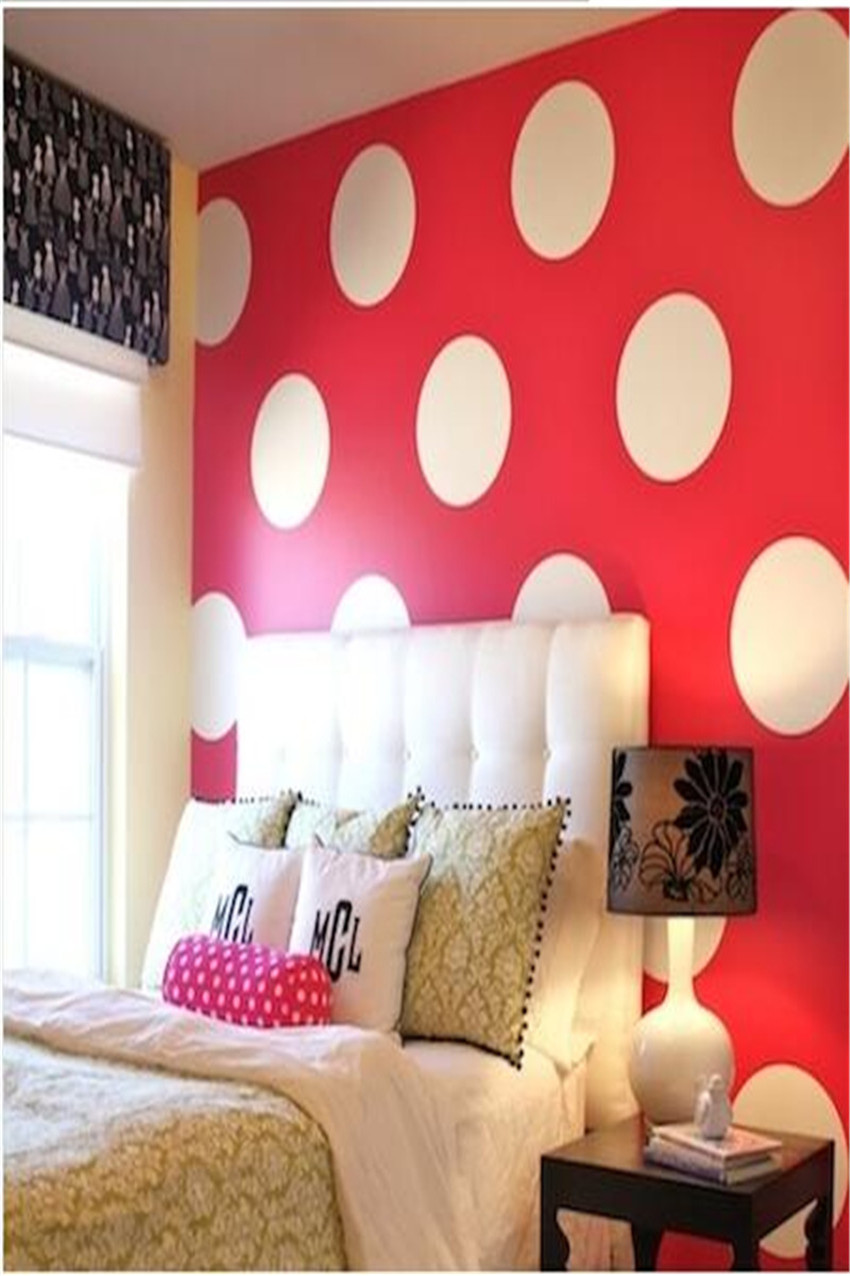 Simple Shapes Wall Design mural design among nice coloring also arch lamp dark chair aboved and books accompany it Wall Stickers For Red Wall Equal Polka Dot Wall Decals Wall Stickers Bedroom Stickers Room