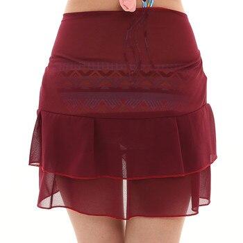 Women Chiffon Sunscreen Shawl Beach Bikini Swimwear Wrap Coverup Skirt Swimsuit Skirt Women Cute Sweet Girls Dance Skirt Юбка 10