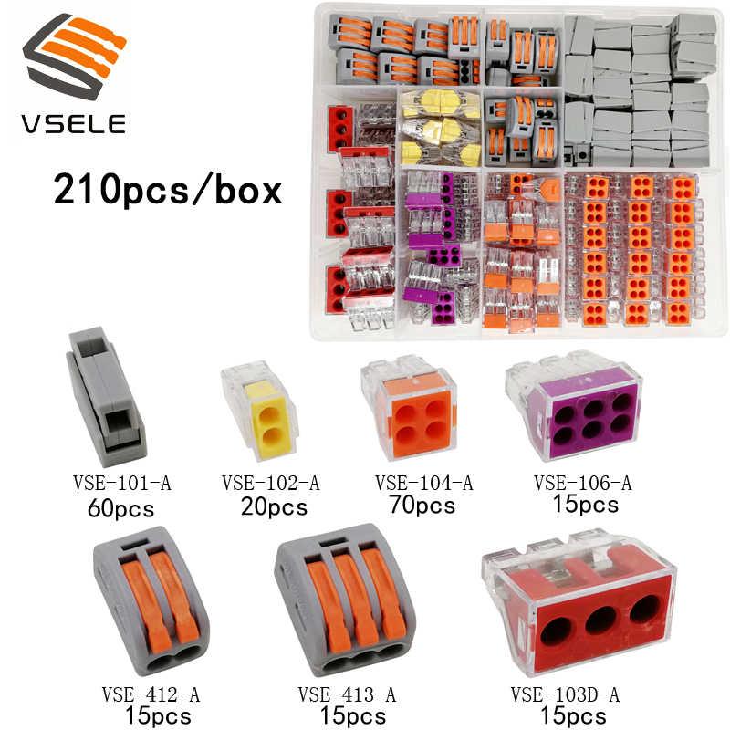 Terminais de vsele 9 tipos caixa conjunto tubo isolante/anel isolante/plug 2.8 4.8 6.3/xh2.54/conector bloco terminais de friso