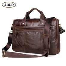 New Arrival Classic Vintage Leather Mens Chocolate Hand Tiny Briefcase Messenger Laptop Bag # 7075LC