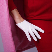 Patent Leather PU Gloves Female Short Style 16cm Synthetic Woman Suede Cosplay Imitation Genuine P36
