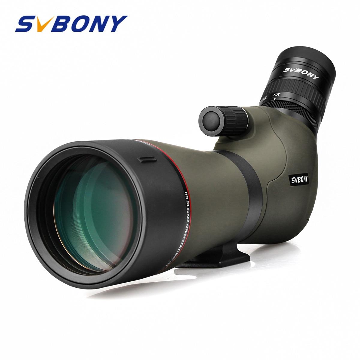 SVBONY 20 60x80 Spotting Scope Zoom Nitrogen Filled Water proof Telescope Dual Focus Mechanism Metal Body
