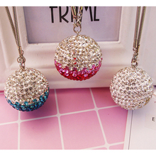 Car Pendant Decor Lucky Crystal Ball Rearview Mirror Hanging Ornament Home Interior Automobile Dashb