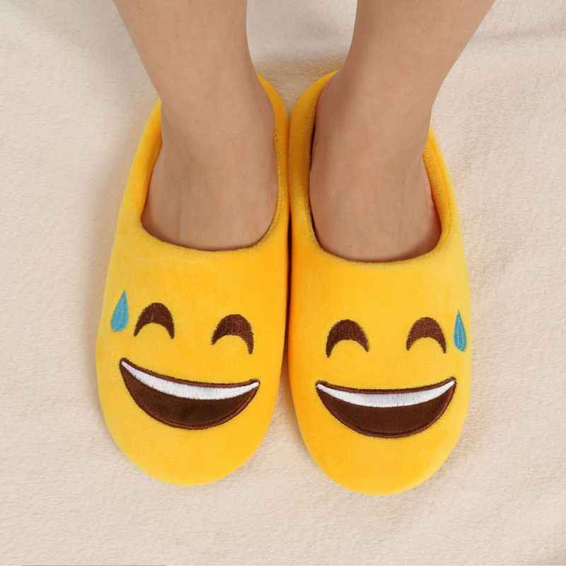ETOSELL Mooie Indoor Warm Emoji Slippers Winter Katoenen Pluche Slipper Emoji Schoenen Smiley Emoticon Winter Leuke Cartoon Schoenen