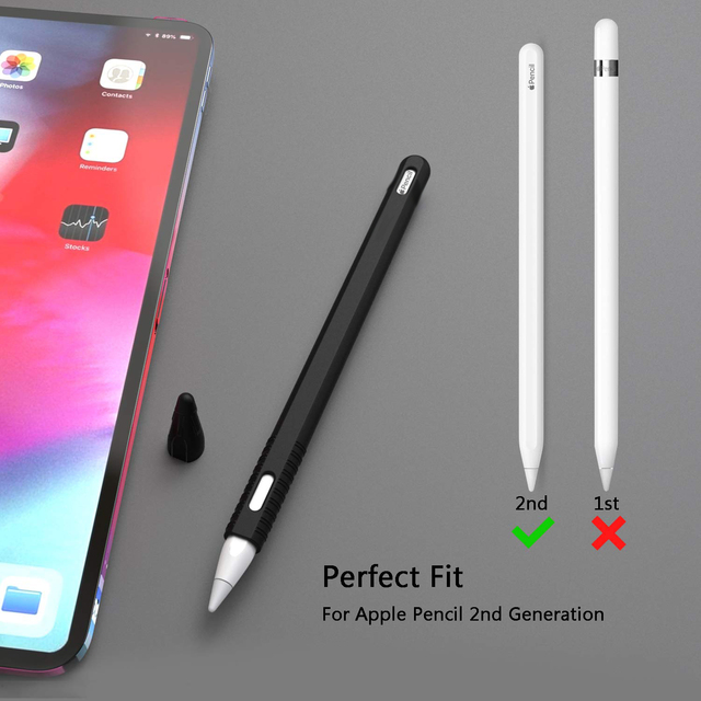 For Apple Pencil 2 Case Soft Silicone Holder Stylus Pen Cover Compatible For Apple Ipad Tablet Touch pen Protective Case 2018