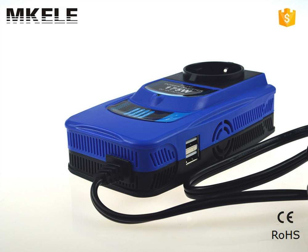 MKC175-122 new style modified sine wave 175w 12vdc 230vac power inverter double usb 5v power inverter for car with wire