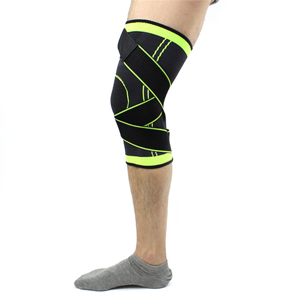 Pressurized Sports pads 3D Knee Pad weaving basketball tennis hiking cycling knee brace support professional protective Straps