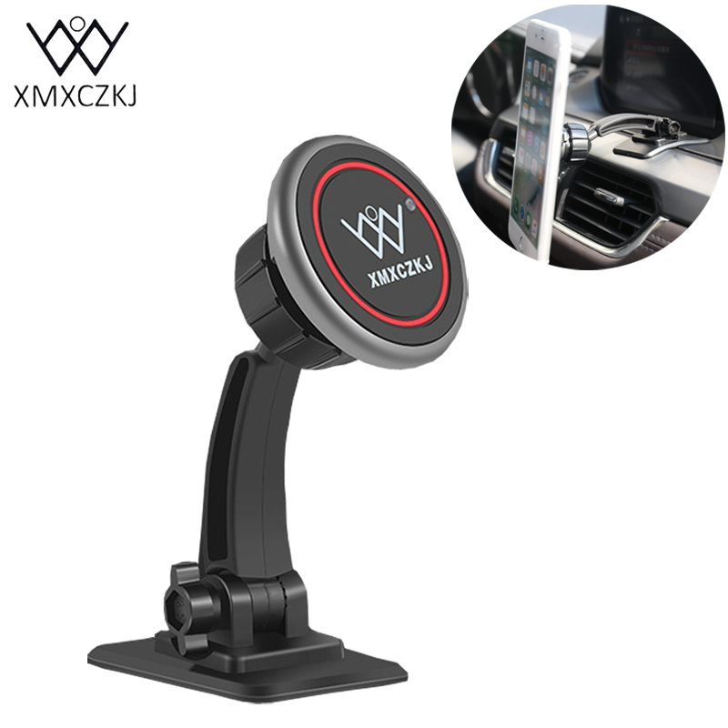 XMXCZKJ Car Mount Holder GPS Universal Magnetic Phone Holder Dashboard 360 Degree Retation Magnet Phone Holder For Iphone Xiaomi