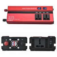 2000 Вт автомобильный инвертор двойной ЖК дисплей напряжения 12 В до 110 В инвертор 4 USB зарядное устройство Портативный Авто 12 в 110 В инвертор пит...