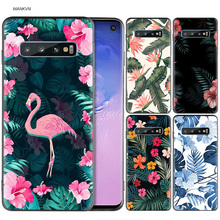banana leaf pattern Tropical Black Silicone Case for Samsung Galaxy M20 S10e S10 S9 M10 S8 Plus 5G S7 S6 Edge M40 M30Cover Coque