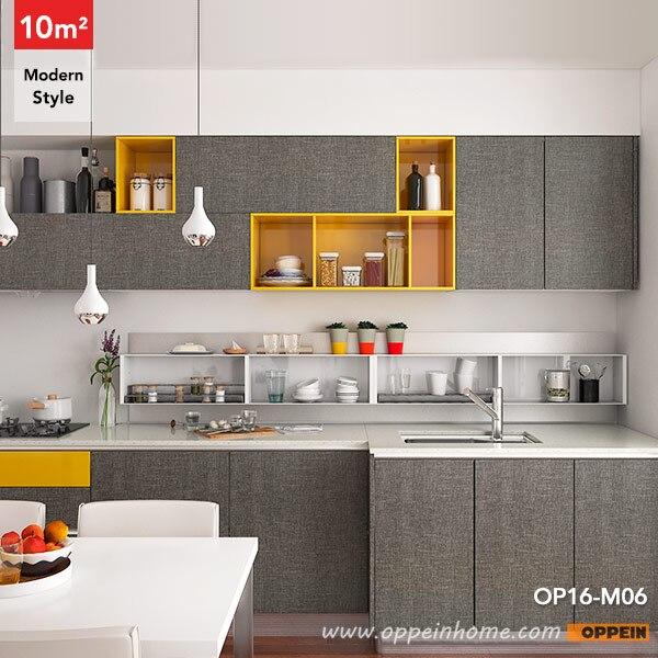 10 Quadratmetern Gerade Linie Moderne Stil Kochnische Küchenschrank ...