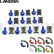 6mm Motorbike CNC Fairing body work Bolts Screws 10 pcs For yamaha fz1 xj6 YFZ450 Balance