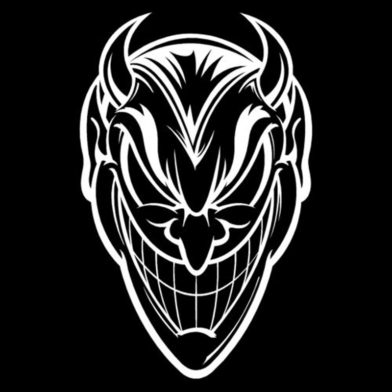 12cm19cm the devil satan lucifer car sticker decor vinyl car styling fashion black silver s3 6908 in car stickers from automobiles motorcycles on