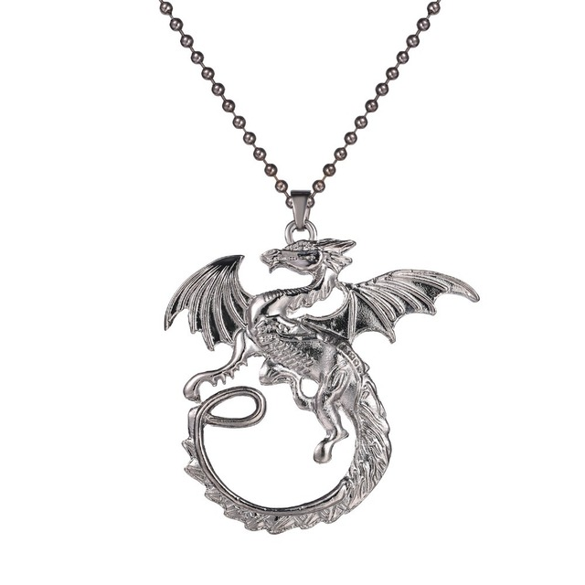 Movie Choker Necklace The Fiery dragon Smaug Pendant The Battle of the Five Armies Chain Necklace