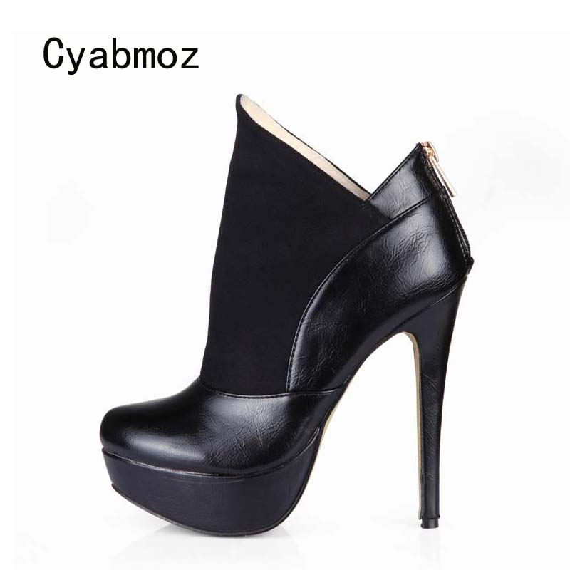 Cyabmoz Shoes Woman Ankle boots Platform High heels Women Winter Ladies Party Dress Valentine Shoes Zapatos botas Mujer Invierno