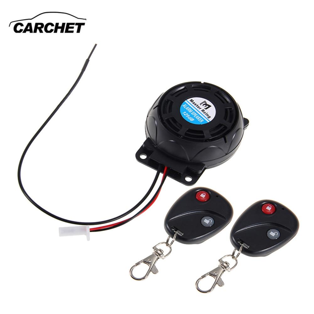 CARCHET אזעקת אופנוע 2 שלט רחוק נגד גניבת אבטחת מערכת נעילת רטט שלט רחוק כפול חיישן אזעקה