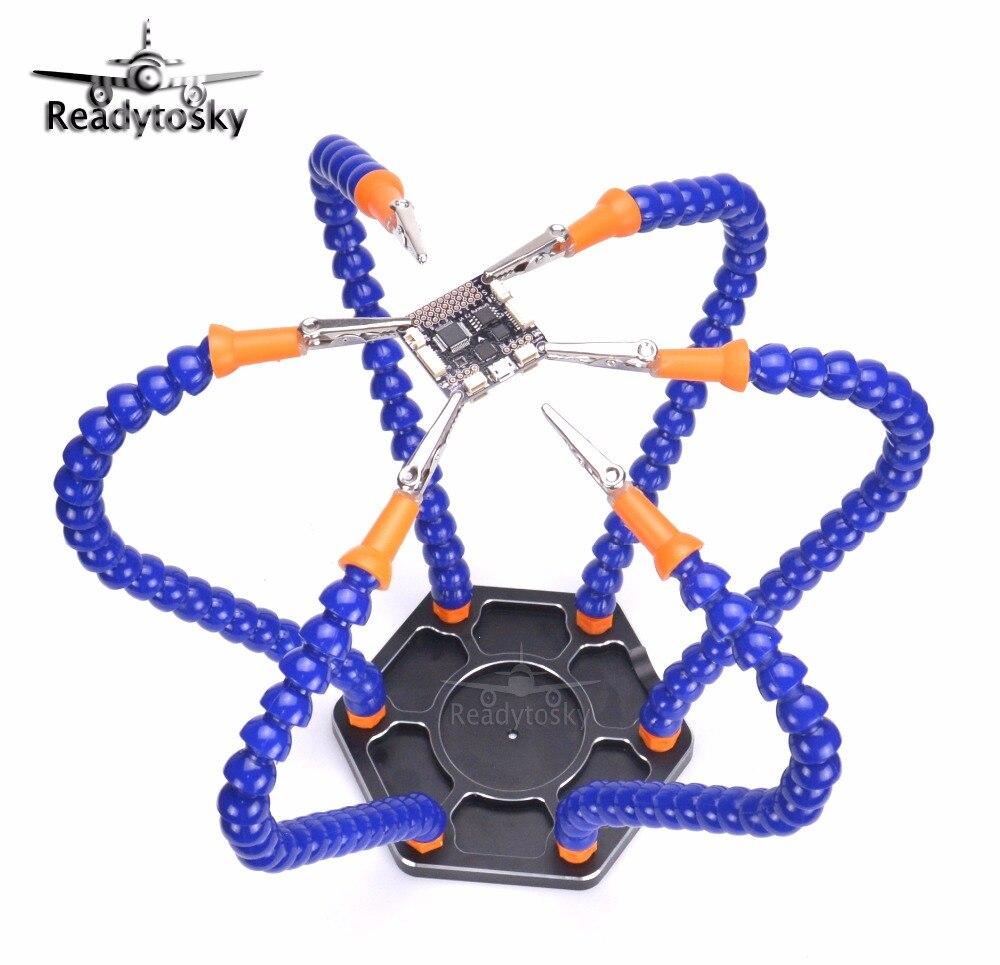 Helping Hands tercera mano soldador 6 brazos flexibles seis brazo Estación de soldadura con giro clip de cocodrilo para RC drone