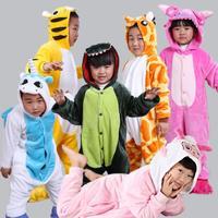 Newborn Baby Boys Girls Clothes For 3 9Yrs Warm Soft Hooded Flannel Stitch Animal Print Cosplay