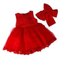 2017 New Baby Girl Dress Baptism Dress For Girl Infant 1 Year Birthday Dress For Baby