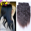 Corase Yaki Clip in Human Hair Extensions 7A Remy Brazilian Light Yaki Clip in Hair Extensions For Black Women 10 pcs/set Stock