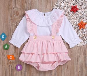 2 pçs/set baby Doll Branco Roupas de manga comprida Terno Para 55-58 centímetros Renascer Baby girl Boneca Acessórios Os Melhores Presentes Atacado 3 Cores