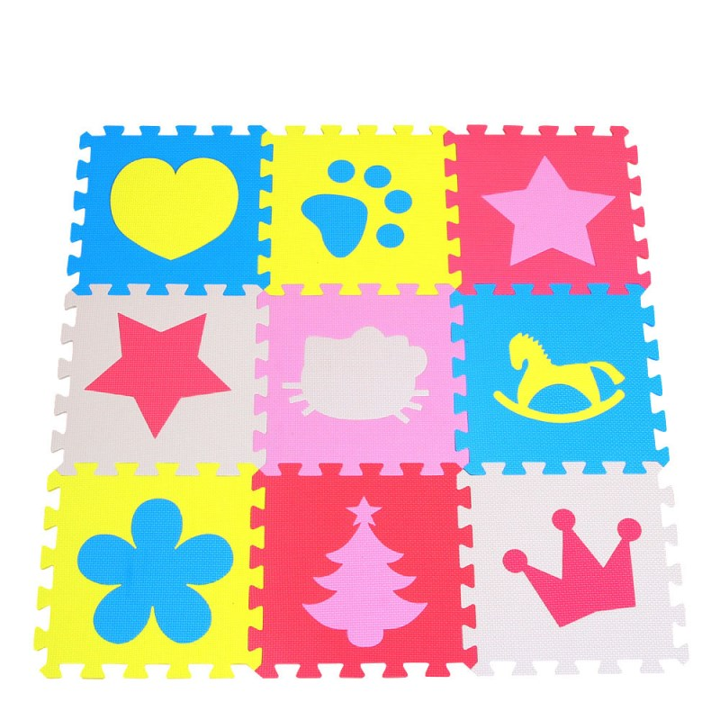 Free Shpping 10 Pcs Foam Mats Exercise Gym Puzzle Soft Tile Floor