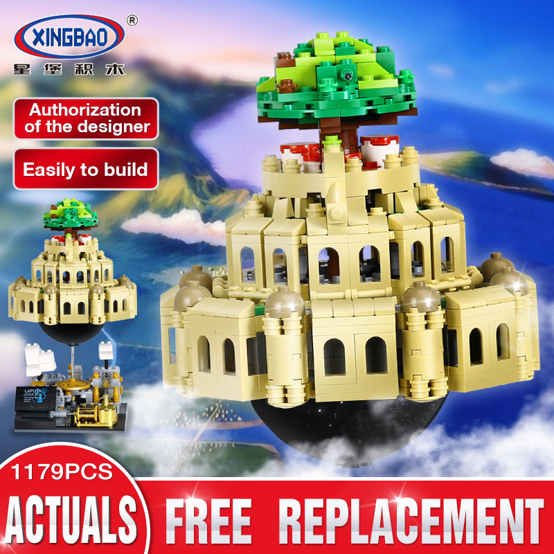 XingBao 05001 1179Pcs Genuine Creative MOC Series The City in The Sky Set Children Educational Building Blocks Bricks Model Gift xingbao 05001 1179pcs city in the sky set genuine creative moc series educational building blocks bricks model toys for children