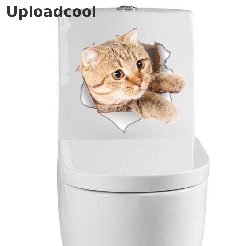 Uploadcool _ различных милые котята щенок Туалет Переводные картинки животных Кошки 3D плакаты искусство росписи украшения дома наклейки