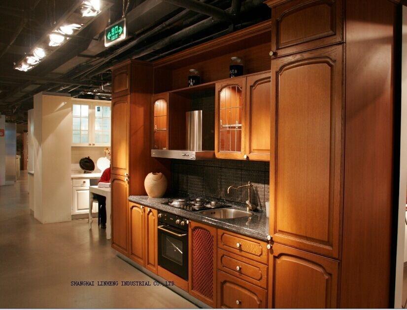 Classical wooden kitchen cabinet (LH-SW010) пуф wooden круглый белый