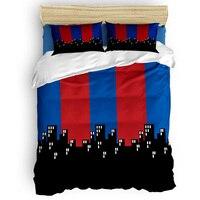«Человек паук», «Супермен» в полоску мультяшный пододеяльник простыни для безбортовой кровати наволочка King queen полный двуспальный набор по