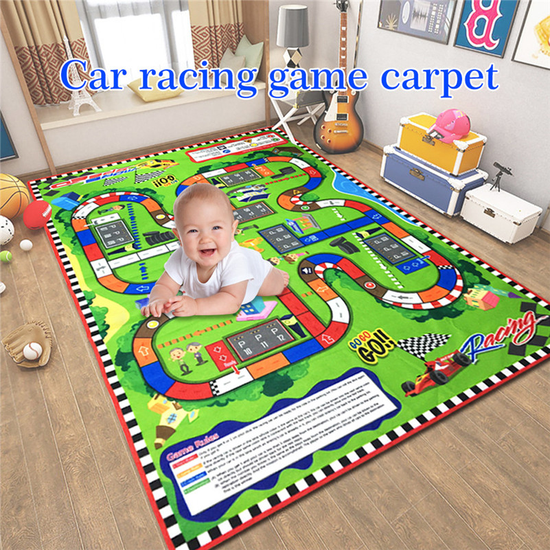 145 X 100cm Kids Rug Developing  Infant Baby Kids Crawl Playing Fun Car City Racing Game  Educational Toys Dropshipping Gifts F1