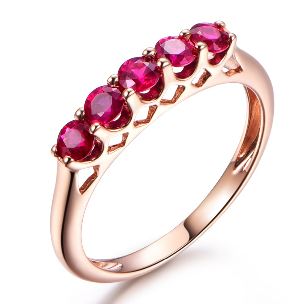 Buy ruby wedding anniversary gift rose gold and get free shipping on ...