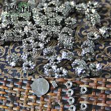 10pcs/Lot 5*7MM Silver Tone Metal Beads Barrel Shape Loose Spacer Beads For Jewelry Making Bracelet Accessories Handmade 801(China)