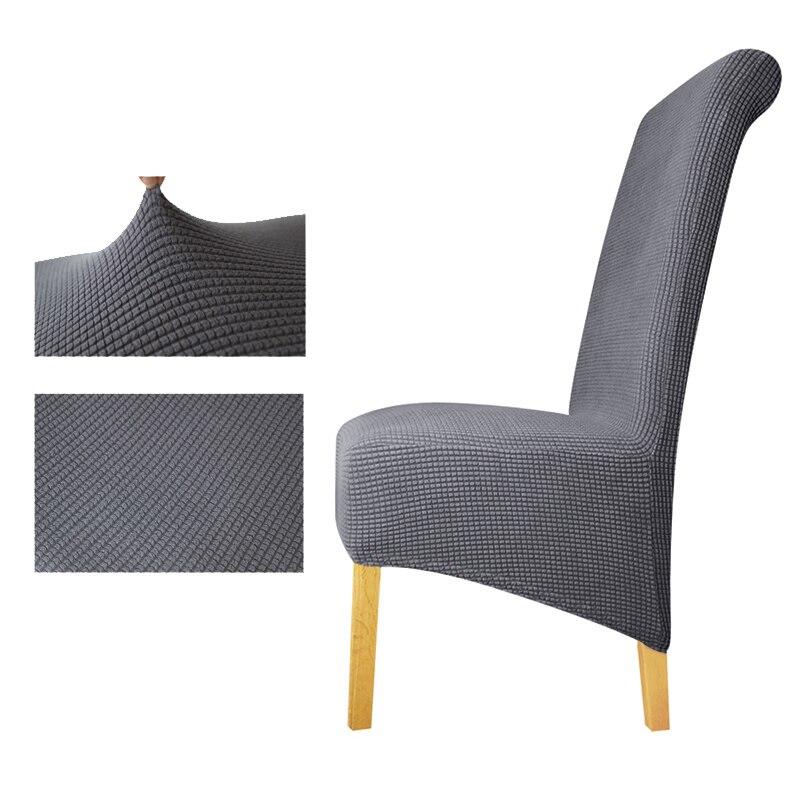 Tissu polaire XL taille longue dossier plaid chaise couverture siège couvre chaise couvre Restaurant hôtel partie Banquet housse de chaise