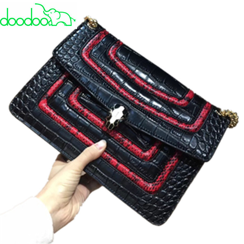 2018 Luxury High Quality Genuine Leather Chain Alligator Handbag Fashion Cowhide Shoulder Messenger Bag Crossbody Bags for Women 2017 women bag cowhide genuine leather fashion folding handbag chain shoulder bag crossbody bag handbag party clutch long wallet