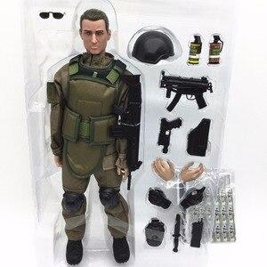Image 3 - PATTIZ 1/6 12 SWAT Action Figure Model toys Military Army Combat Game Toys boys birthday  Free shipping