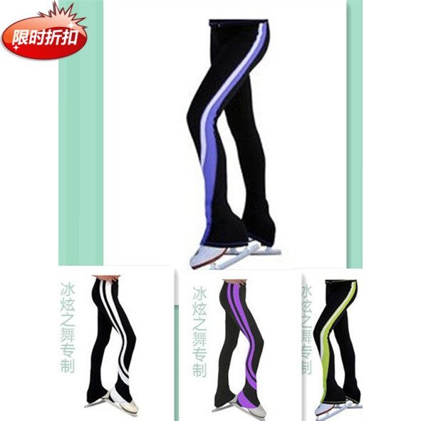 ФОТО ice skating trousers for girls hot sale child figure skating trousers free shipping