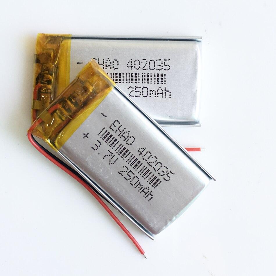 3,7 V 250mah 402035 литий-полимерный Li-Po аккумулятор ручной gps Аккумулятор для навигатора DIY Mp3 MP4 MP5 gps bluetooth