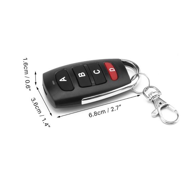 אוניברסלי 4 כפתור שיבוט שיבוט להעתיק 433mhz חשמלי דלת מוסך שלט רחוק מעתק מפתח מרחוק